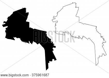San Luis Potosi City (united Mexican States, Mexico, San Luis Potosi State) Map Vector Illustration,