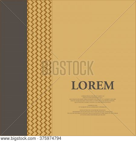 Layout Design With Woven Decorative And Copy Space For Cover Design Or Any