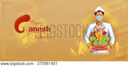 Lord Ganpati Background For Ganesh Chaturthi Festival Of India