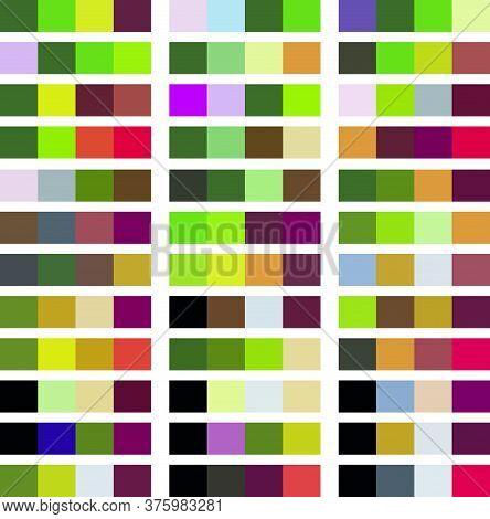 Color Palette Vector Design. Harmonious Color Combinations.