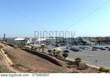 Orihuela, Costa Blanca, Spain - September 21, 2018:shopping Complex In Orihuela Costa. Spain