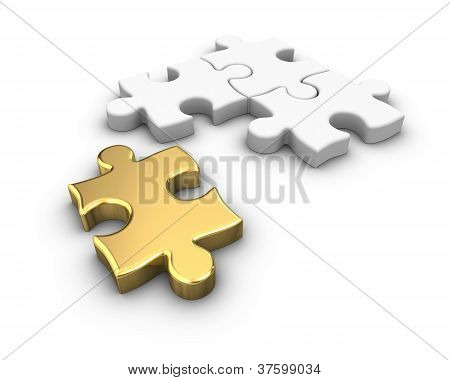 Gold Jigsaw Puzzle