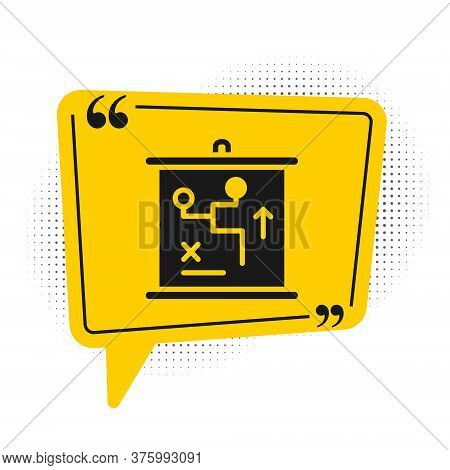 Black Planning Strategy Concept Icon Isolated On White Background. Cup Formation And Tactic. Yellow