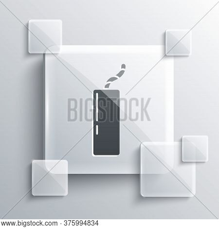 Grey Detonate Dynamite Bomb Stick And Timer Clock Icon Isolated On Grey Background. Time Bomb - Expl