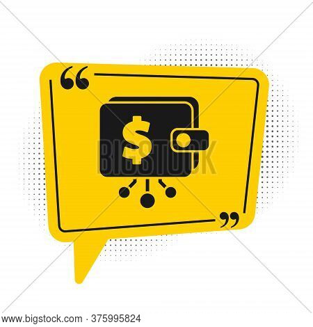 Black Cryptocurrency Wallet Icon Isolated On White Background. Wallet And Bitcoin Sign. Mining Conce