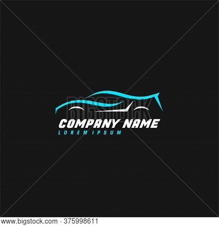 Automotive Logo With A Car Shilouette Icon, Automotive, Auto Club, Garage & Car Logo. Icon & Symbol