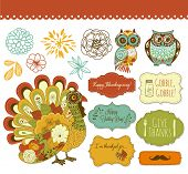 Happy Thanksgiving beautiful clip art poster