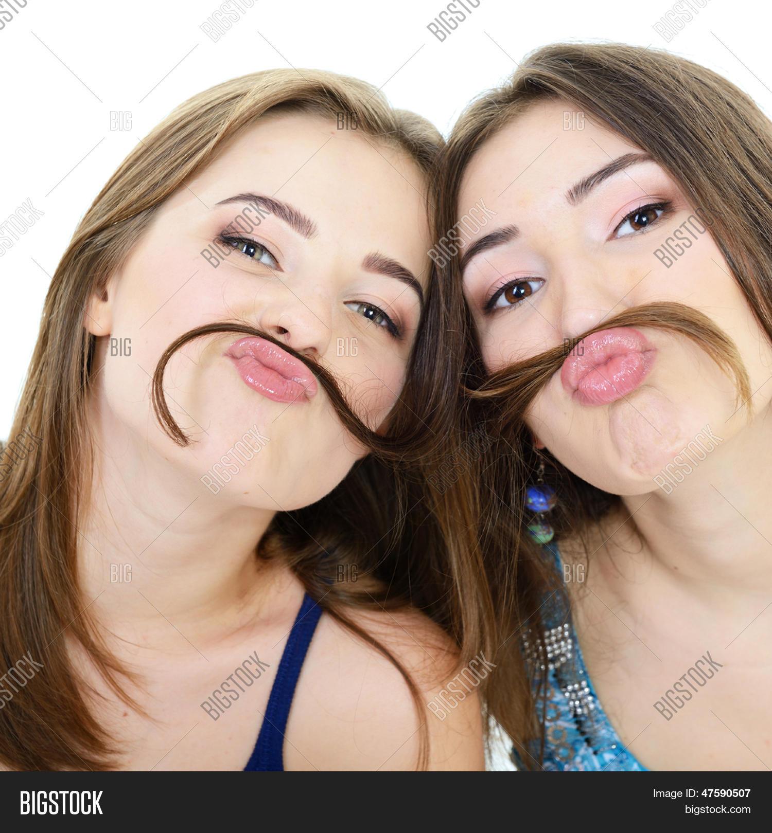 Teenage girls faces