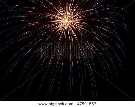 Fireworks White to Blue