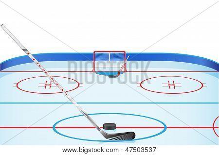 Hockey Stadium Vector Illustration