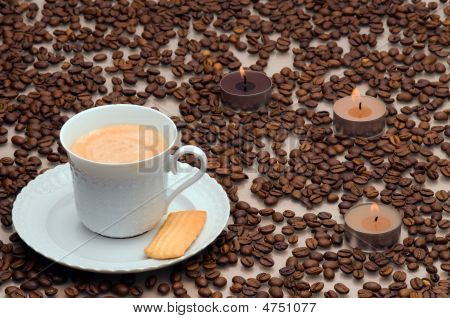 Cup Of Coffee With Crema