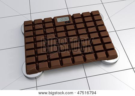 3D Bathroom Scale - Chocolate Design