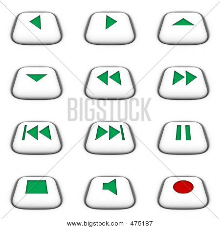 Buttons For Cd/dvd/vcr/winamp