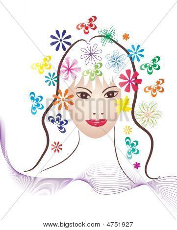 Spring Girl Head