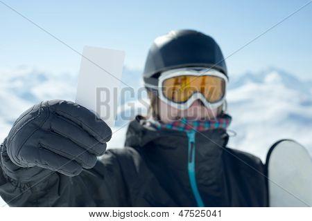Concept To Illustrate Ski Admission Fee