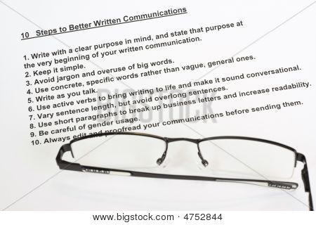Ten Steps To Better Written Communications