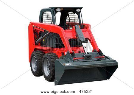 Small Red Exacavator