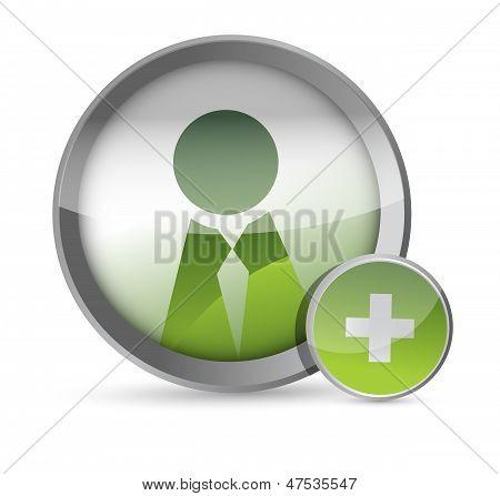 Add A Friend Icon Illustration Design
