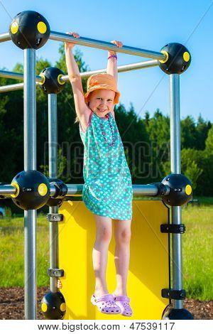 Girl And Jungle Gym