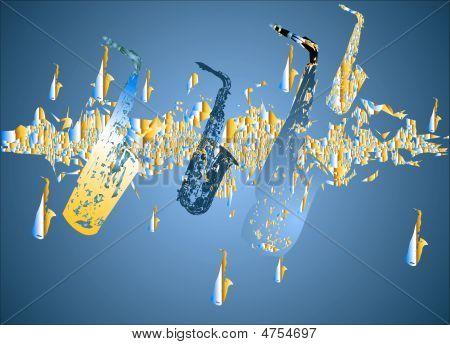 Saxophone Migration - Blue