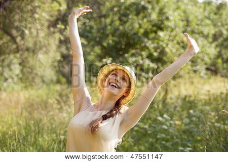 Happy Woman In A State Of Ecstasy