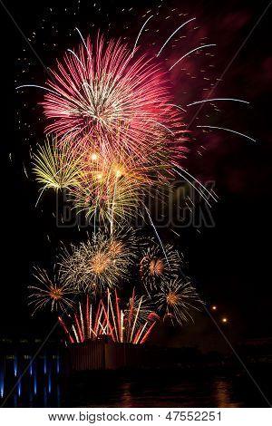 large fireworks display in sky