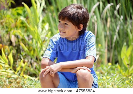 Young Boy In Nature Series