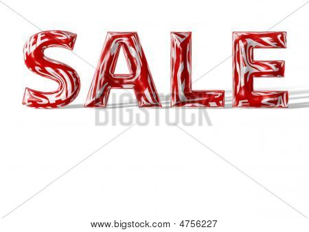 3D Shiny Sale Text With Shadow