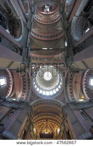 Basilica Ceiling In Novara, Italy