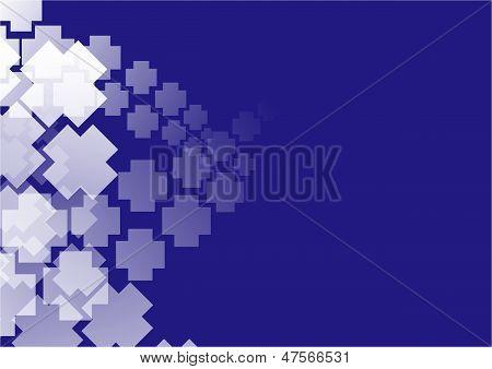 blue modern bakcground with motif