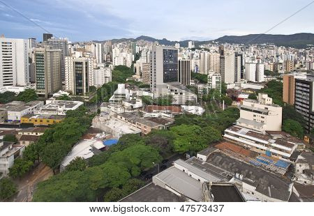 City landscape of downtown Belo Horizonte Brazil poster