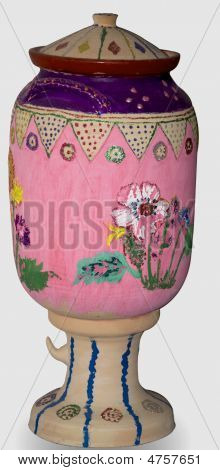 Mud Pot With Hand Painting