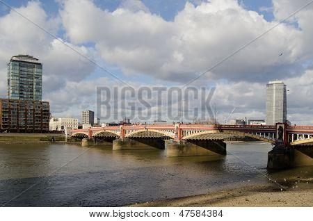 Vauxhall Bridge over River Thames