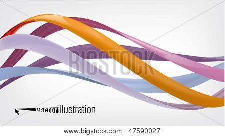 glossy twisted wavy lines or graphic design