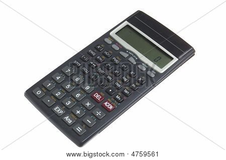 Calculator Over White