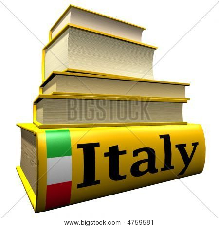 Guidebooks and dictionaries of Italy