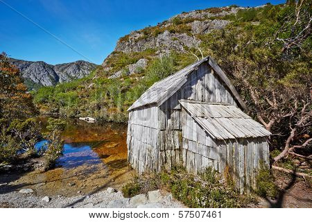 Old Wooden Hut By Lakeside In Cradle Mountain - Lake St. Clair National Park