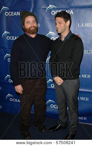 Zach Galifianakis and Justin Bartha   at the 2009 Oceana Annual Partners Award Gala, Private Residence, Los Angeles, CA. 11-20-09