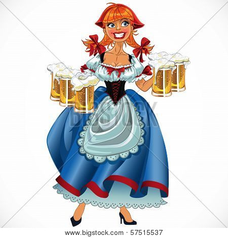 Octoberfest Girl With Beer