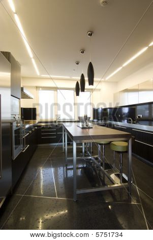 contemporary loft - kitchen