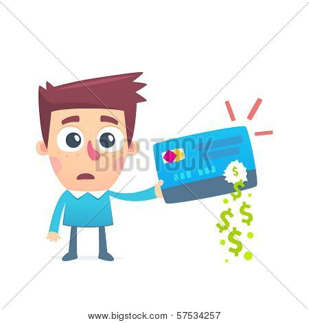 Disappearance of money from credit card