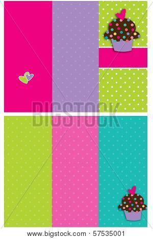 Cupcake Bakery Brochure Dots