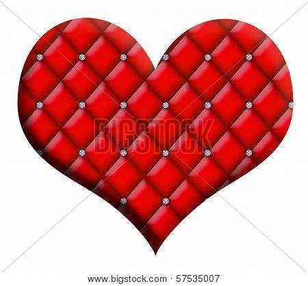 Valentine Heart Diamond Tufted