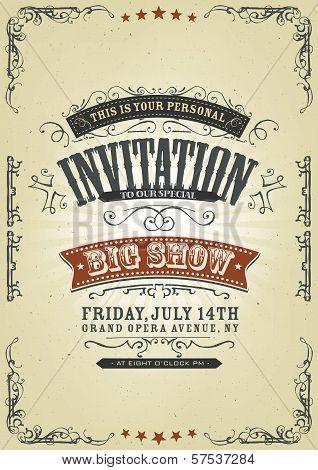 Vintage Invitation Background