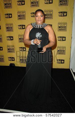 Mo' Nique at the 15th Annual Critic's Choice Awards, Hollywood Palladium, Hollywood, CA. 01-15-10