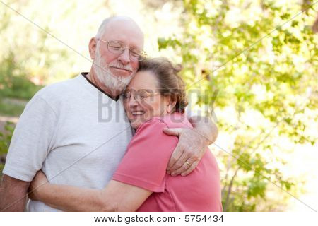 Loving Senior Couple Outdoors