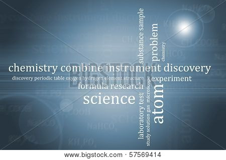 Abstract Background Chemistry Theme
