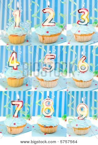 Birthday Number Cupcakes