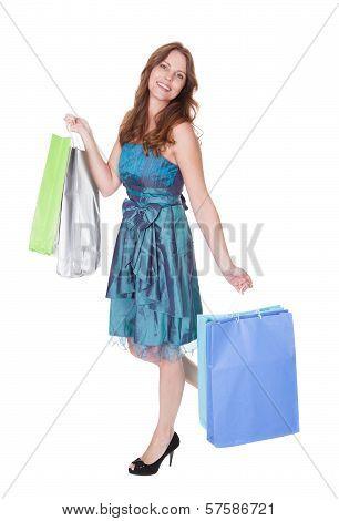 Happy Fashionable Shopper