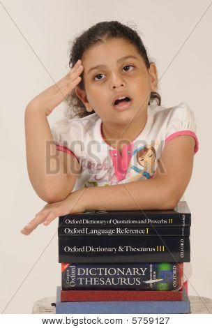 a sweet young girl overburdened with too much studies